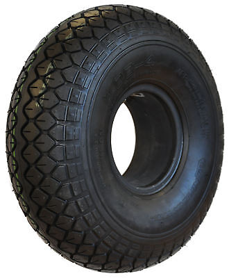 400 x 4 Black Infilled Block mobility scooter Tyre