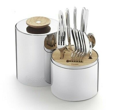 Essentiel by Christofle Paris France Stainless Steel Flatware Set 24 Pieces New