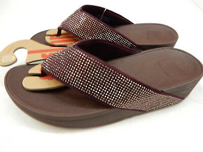 fd13d32dbaba FITFLOP WOMENS SANDALS Ritzy Toe Post Sandals Berry Size 9 -  19.95 ...