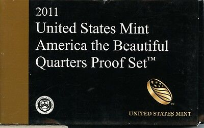 Uncirculated 2011 S U.S. Mint America the Beautiful Proof Set w/CoA ME756