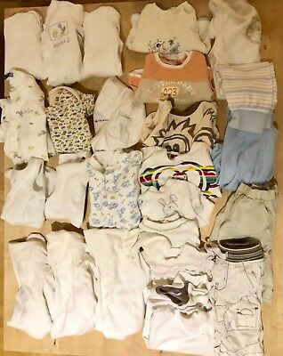 0-3 3-6 month baby boy clothes bundle over 60 items - FREE POSTAGE,