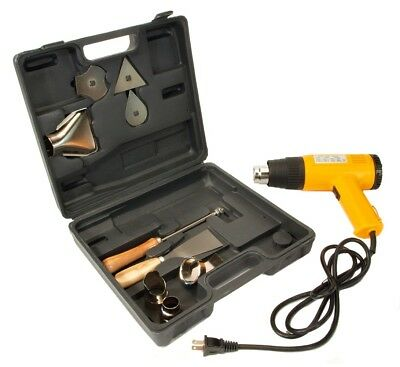 Electric HEAT GUN - Dual Temperature - Case and Nozzles Heavy Duty Kit New!