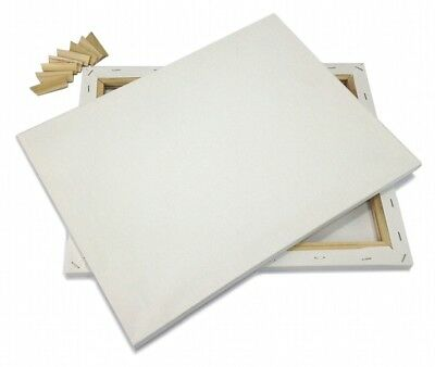 """Lot of 2 ARTIST CANVAS 30x30"""" Framed Pre-Stretched BLANK Cotton Double Gesso"""