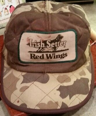 1d57af997d9 VINTAGE THINSULATE CAMO Irish Setter Red Wing Cold Weather Hat Ball ...