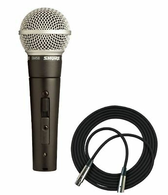 Shure SM58S Dynamic Vocal Microphone with On / Off Switch + 20' XLR Cable 2019