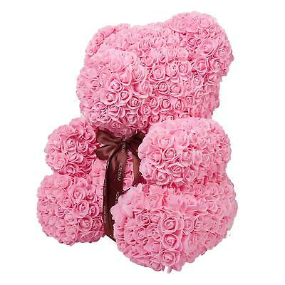 Rose Flower Teddy Bear Valentine's Day Mothers Day Anniversary Pink [Read Desc!]