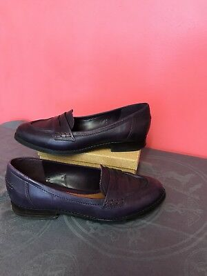 Clarks Griffin Milly Ladies Black Leather Slip On Shoes D Fit R17A
