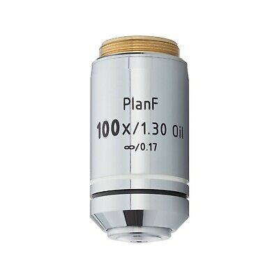 AmScope PF100X-INF 100X Infinity Plan Fluor Oil Objective for Microscopes
