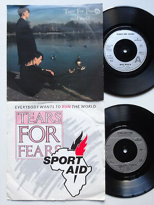 "TEARS FOR FEARS Set Of 2 x 7"" - Mad World & Everybody Wants To Run The World"