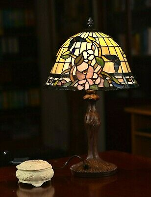 Mission Style Stained Glass Leadlight  Tiffany Bedside Lamp/Part
