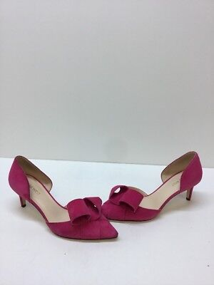d1d878ac5dc4 Nine West  Shamrock  Pink Suede Slip On Pointy Toe D Orsay Heels Womens
