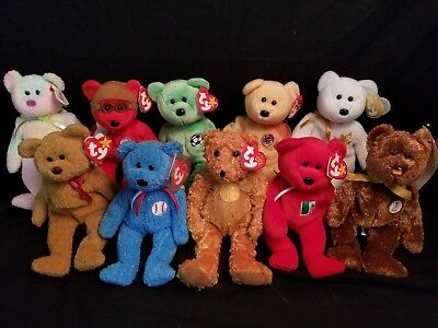 a9b8f0eb655 LOT OF 10 Ty Beanie Babies