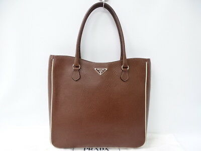 6c0a3e0783d6 ... promo code for auth prada milano dal 1913 shoulder hand tote bag  leather brown 23150413000 zg