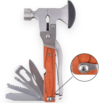 Alpinewolf Stainless Steel 16-in-1 Portable Multi-Functional Hatchet Tool for &