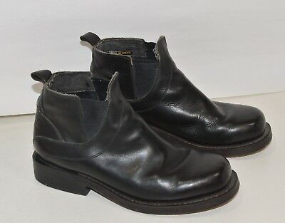 2e6a2ae0bbb VINTAGE KARL KANI Black Leather Slip-On Boots Size 8 M Hip Hop Rare ...