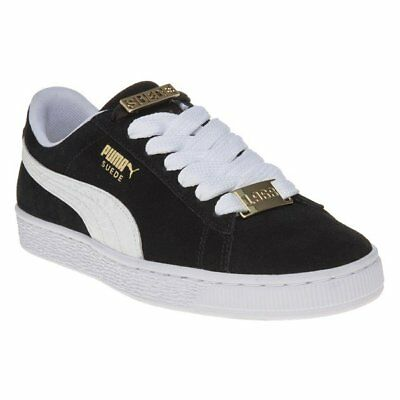 New Mens Puma Black Suede Classic Bboy Fabulous Trainers Retro Lace Up 66b0fdb6f