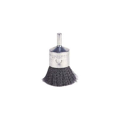 """Weiler 1""""  Crimped Wire End Brush, Solid End, Round Shank, Steel 22,000 Max RPM"""