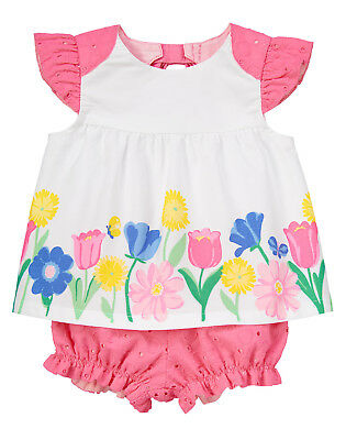 NWT Gymboree Fun /& Fancy Floral Watercolor Dressy Bloomer Set 2PC Baby Girl