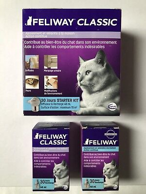 Diffuseur Feliway + 3 Recharges 48ml