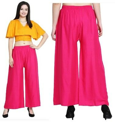 Women High Waist Flared Wide Leg Long Pants OL Work Casual Palazzo Trouser