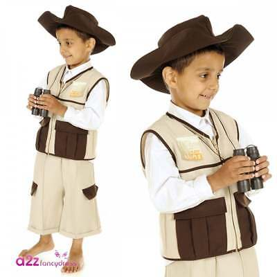MENS AFRICAN SAFARI ZOO KEEPER FANCY DRESS COSTUME OUTFIT PARTY STAG STEVE IRWIN