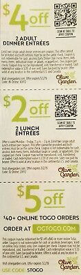 Olive Garden Coupons 10 Sheets Exp. 3/2/2019 Fast Shipping!