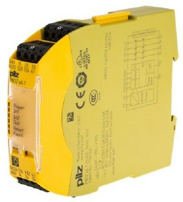 Pilz PNOZ S6.1 24VDC 3 N/O 1 N Safety Relay Dual Channel with 3 Safety Contacts