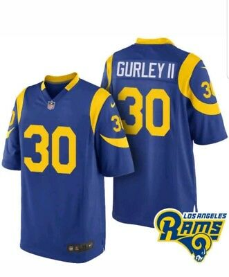 c90d815f58e Mens On Field Todd Gurley Throwback Jersey Los Angeles Rams Game Jersey  Size XL