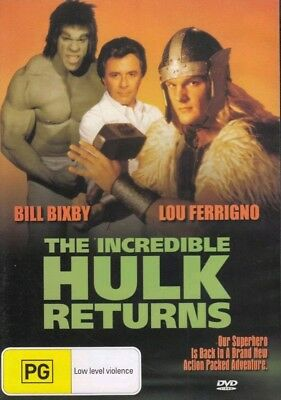 The Incredible HULK Returns / Bill Bixby, Lou Ferrigno  DVD REGION 4 NEW