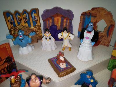 1996 McDonalds - Aladdin and the King of Thieves - all 8 -PLUS ( TOYS & SCENES )