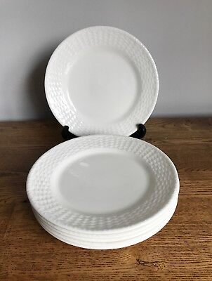 Wedgwood Nantucket Basketweave Set Of 6 Medium Salad Plates 20.5cm Fabulous