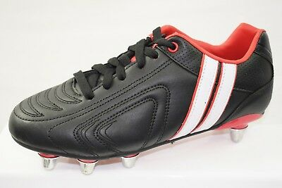 7257fae4807 BOYS BLACK PATRICK Rugby Football Boots / UK 9 / EU 43 / Excellent ...