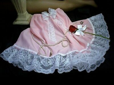 Sissy Silky Feminine Pink French Knickers Tap Panties White Lace Satin Buds b3d7e4aeb