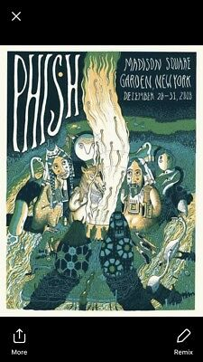 Phish MSG Kathleen Neely Sold Out Show Print 1200 Poster 2018 SQUARE GARDEN Rare