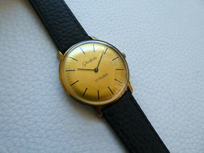 Elegant Vintage Very rare GLASHUTTE Men's dress watch from the 1970's years!