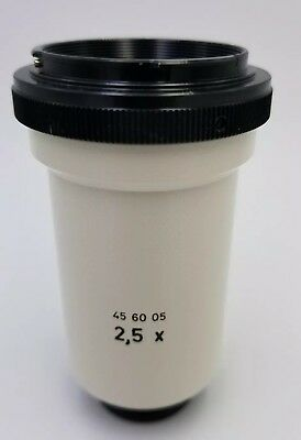 Zeiss Microscope 2.5x DLSR Camera Adapter 45 60 05 SLR 2,5x Tube Bayonet
