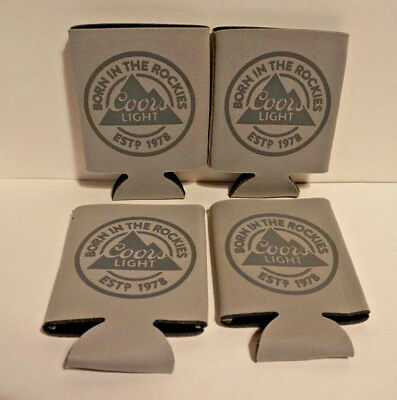 NEW Set Of Four COORS LIGHT - Beer Coozie Koozie Huggie Can Holder