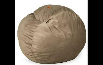 Cordaroy S Charcoal Chenille Convertible Bean Bag Chair Queen Size