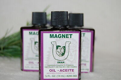 Magnet  Magickal Oil (1) 4DRMs Attract Money, Wealth, Love , Santeria, Hoodoo