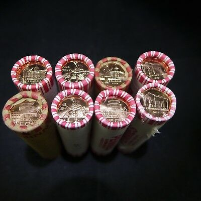 2009 Lincoln Bicentennial Roll Set All 8 Original Unopened Wrapped Rolls P & D