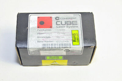 Coherent CUBE 660nm 100mW Laser Head    New in box, Sealed!  P/N 1156466