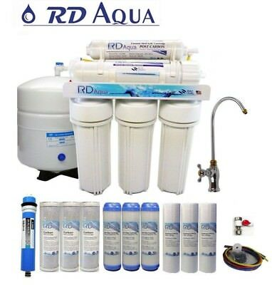 5 Stage Undersink Reverse Osmosis RO Water Filter System Drinking water