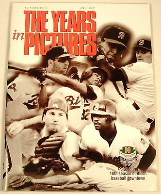 Buffalo Bisons Cleveland Indians 1997 Baseball Program The Years In Pictures
