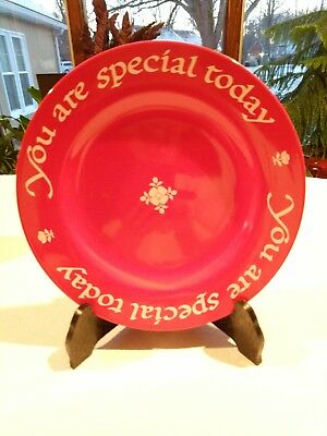 """1979 The Original RED PLATE Co You Are Special Today Germany 10.5""""  New"""