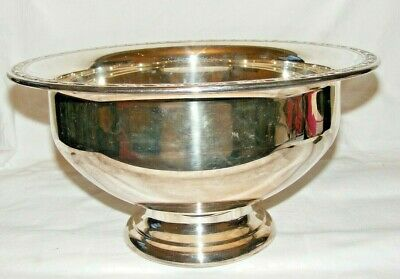 Vintage Oneida Silver Plate Silverplate Punch Bowl Large Footed Bowl