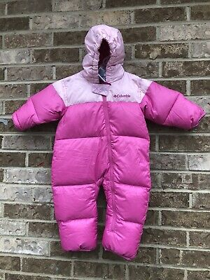 a0aeb3453 COLUMBIA BABY GIRL Down Filled Bunting 6 Months Snow Suit Pink ...
