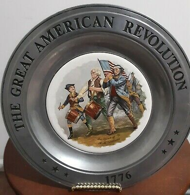 Vintage Great American Revolution 1776 Bicentennial Collection Plate