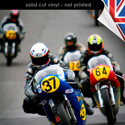 Race Number Ovals - Individual Racing Ovals - Vinyl Decal / Sticker - 4103-0119