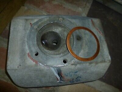 Maico 1974 GP 250 cylinder head with NOS gasket vintage MC P# 2502 and 65