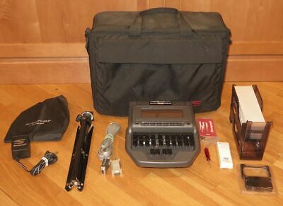 Stentura 8000 Stenograph Electric Steno Machine with Tripod, Tray & Case
